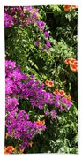 Burgazada Island Flower Color Bath Towel