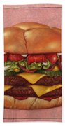 Burger Bath Towel