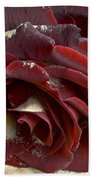 Burgundy Rose Bath Towel