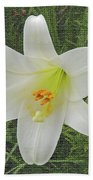 Burlap Textured Easter Lily Bath Towel