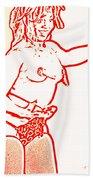 Burlesque Sketch 1 Bath Towel