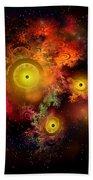 Burning Embers Nebula Bath Towel