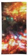City Of Burning Lights Bath Towel