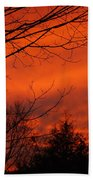 Burning Sky Bath Towel