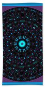 Burnout Velvet Mandala Bath Towel by Joy McKenzie