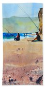 Burton Bradstock Beach Bath Towel