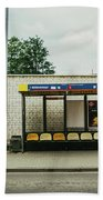 Bus Stop In Poland Bath Towel
