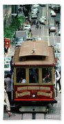 Busy Day On The California Street Cable Car Incline Bath Towel