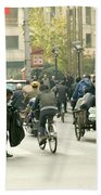 Busy Street, Shanghai Bath Towel