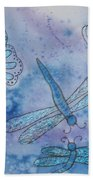 Butterflies And Dragonflies Bath Towel