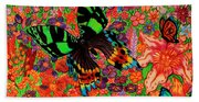 Butterflies And Flowers Hand Towel