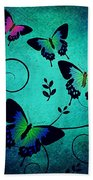 Butterflies At Dusk Bath Towel