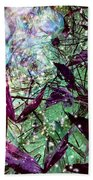 Butterflies At Night  Bath Towel