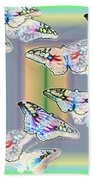 Butterflies In The Vortex Bath Towel