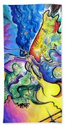 Butterfly 01. Science And Its Progress  Bath Towel