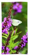 Butterfly And Bouquet Bath Towel