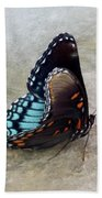 Butterfly Blue On Groovy 2 Bath Towel