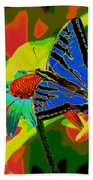 Butterfly Blues Bath Towel
