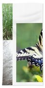 Butterfly Collage  Bath Towel