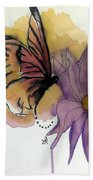 Butterfly Collecting Bath Towel