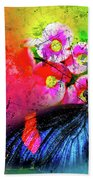 Butterfly Color Explosion Bath Towel