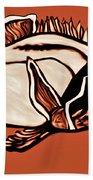 Butterfly Fish In Watercolor Bath Towel