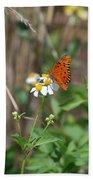 Butterfly Flower Bath Towel