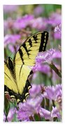 Butterfly Flowers Hand Towel by Christina Rollo