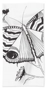 Butterfly In Black And White Bath Towel