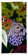 Butterfly In Garden Bath Towel