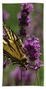 Butterfly In Lavender Bath Towel