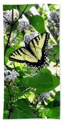 Butterfly In The Lilac No. 1 Bath Towel