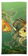 Butterfly Koi Hand Towel