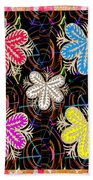 Butterfly Look Graphic Flowers Colorful  Art For A Cheerful Smiling Mood Great For Kids Room Party R Bath Towel
