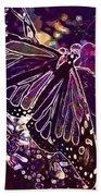 Butterfly Monarch Flower  Bath Towel