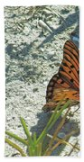 Butterfly On Beach Bath Towel