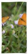 Butterfly On Fleabane #2 Bath Towel
