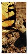 Butterfly On The Rocks Bath Towel