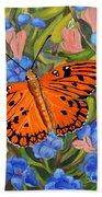 Butterfly Orange Bath Towel