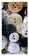 Buttons In Grunge Style Bath Towel