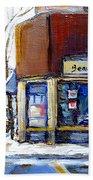 Buy Original Montreal Paintings Beauty's Winter Scenes For Sale Achetez Petits Formats Tableaux  Bath Towel