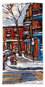 Buy Original Wilensky Montreal Paintings For Sale Achetez Petits Formats Scenes De Rue Street Scenes Bath Towel