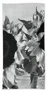 Bw Sunflowers #002 Bath Towel
