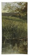 By The Riverbank, 1869 Hand Towel