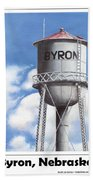 Byron Water Tower Poster Bath Towel
