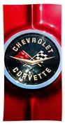 C2 Corvette Logo Bath Towel