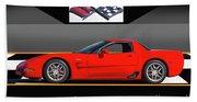 C5 Corvette Zo6 'profile' I Bath Towel