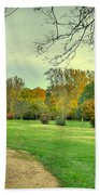 Cabin And Autumn Trees Hand Towel