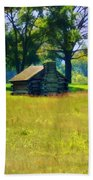 Cabin At Valley Forge Bath Towel