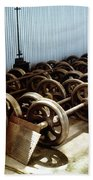 Cable Car Wheels, Repair Shop Bath Towel